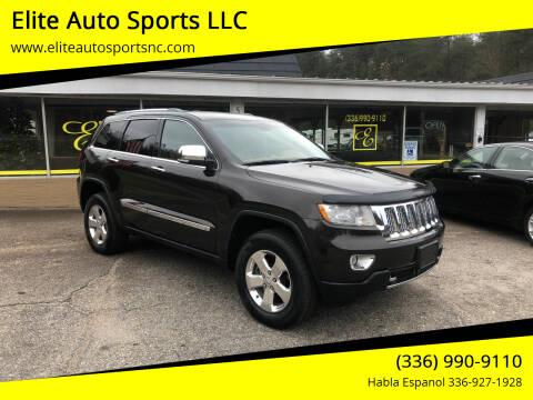 2012 Jeep Grand Cherokee for sale at Elite Auto Sports LLC in Wilkesboro NC