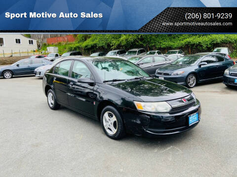 2003 Saturn Ion for sale at Sport Motive Auto Sales in Seattle WA