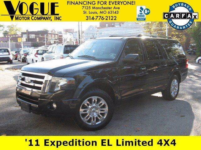 2011 Ford Expedition EL for sale at Vogue Motor Company Inc in Saint Louis MO