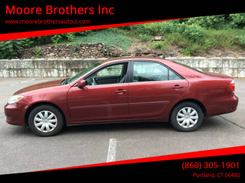 2005 Toyota Camry for sale at Moore Brothers Inc in Portland CT
