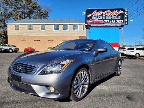 2015 Infiniti Q60 Coupe for sale at Auto Outlet Sales and Rentals in Norfolk VA