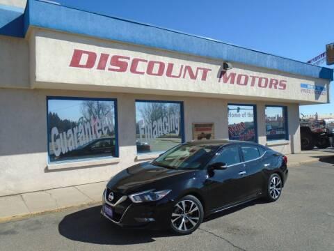 2018 Nissan Maxima for sale at Discount Motors in Pueblo CO