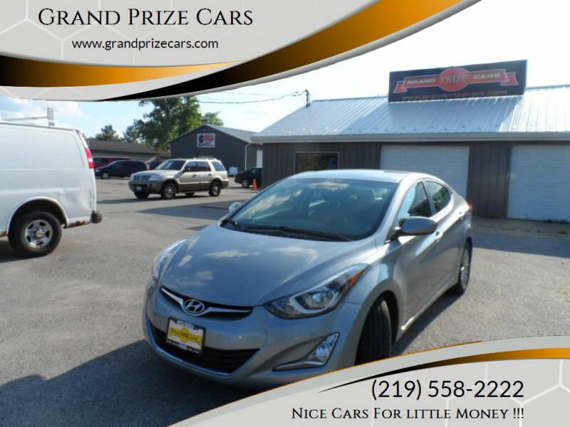 2015 Hyundai Elantra for sale at Grand Prize Cars in Cedar Lake IN