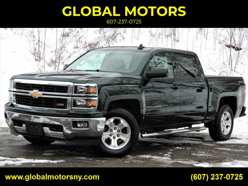 2015 Chevrolet Silverado 1500 for sale at GLOBAL MOTORS in Binghamton NY