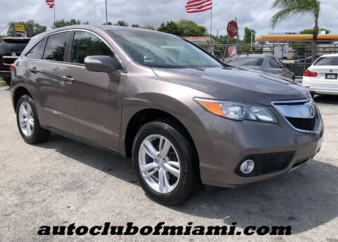 2013 Acura RDX for sale at AUTO CLUB OF MIAMI in Miami FL