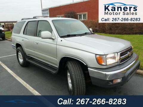 2000 Toyota 4Runner for sale at Kaners Motor Sales in Huntingdon Valley PA