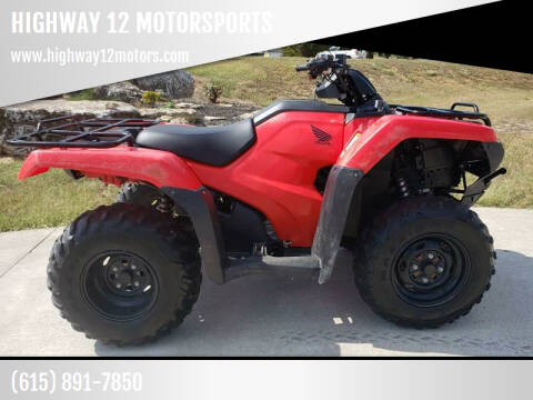 2017 Honda TRX 420 for sale at HIGHWAY 12 MOTORSPORTS in Nashville TN