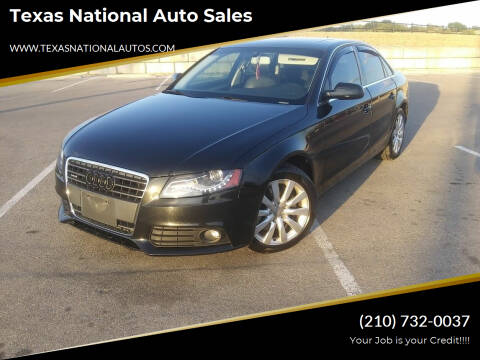 2012 Audi A4 for sale at Texas National Auto Sales in San Antonio TX