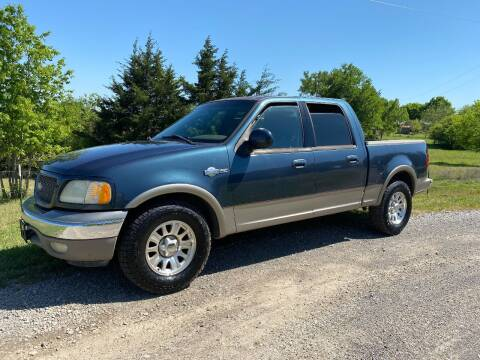 2001 Ford F-150 for sale at CAVENDER MOTORS in Van Alstyne TX