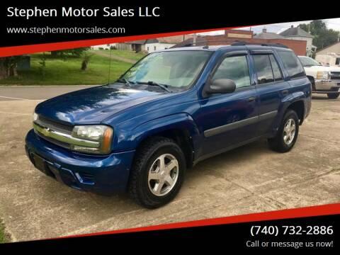 2005 Chevrolet TrailBlazer for sale at Stephen Motor Sales LLC in Caldwell OH