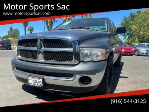 2004 Dodge Ram Pickup 1500 for sale at Motor Sports Sac in Sacramento CA