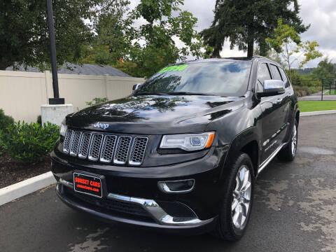 2015 Jeep Grand Cherokee for sale at Matthews Motors LLC in Auburn WA