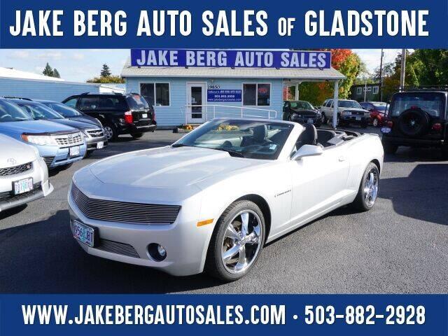 2013 Chevrolet Camaro for sale at Jake Berg Auto Sales in Gladstone OR