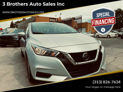 2021 Nissan Versa for sale at 3 Brothers Auto Sales Inc in Detroit MI