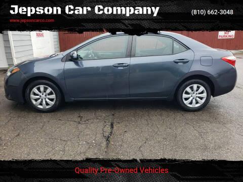 2016 Toyota Corolla for sale at Jepson Car Company in Saint Clair MI