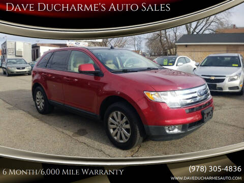 2007 Ford Edge for sale at Dave Ducharme's Auto Sales in Lowell MA