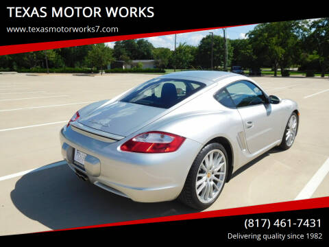 2006 Porsche Cayman for sale at TEXAS MOTOR WORKS in Arlington TX