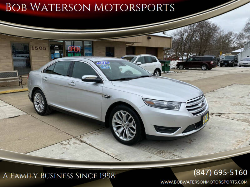 2014 Ford Taurus for sale at Bob Waterson Motorsports in South Elgin IL
