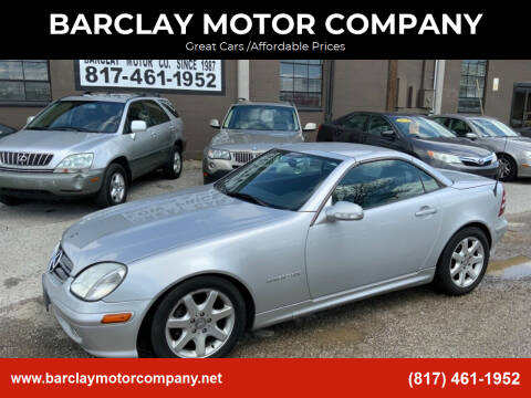 2001 Mercedes-Benz SLK for sale at BARCLAY MOTOR COMPANY in Arlington TX