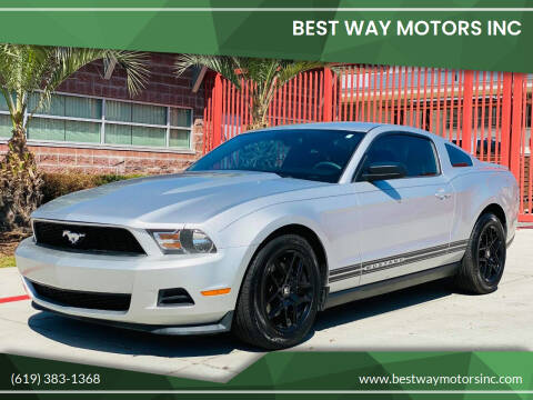 2012 Ford Mustang for sale at BEST WAY MOTORS INC in San Diego CA