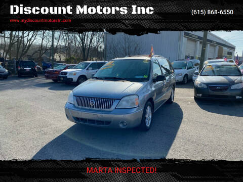 2007 Mercury Monterey for sale at Discount Motors Inc in Madison TN