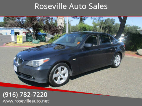 2006 BMW 5 Series for sale at Roseville Auto Sales in Roseville CA