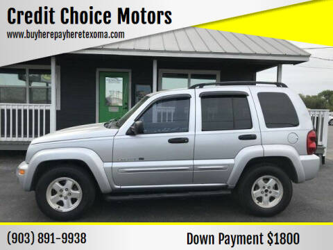 2002 Jeep Liberty for sale at Credit Choice Motors in Sherman TX