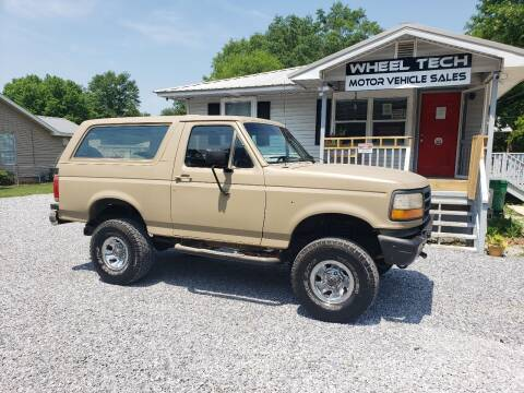 1990 Ford Bronco for sale at Wheel Tech Motor Vehicle Sales in Maylene AL