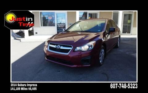 2014 Subaru Impreza for sale at Just In Time Auto in Endicott NY
