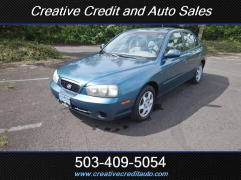 2001 Hyundai Elantra for sale at Creative Credit & Auto Sales in Salem OR