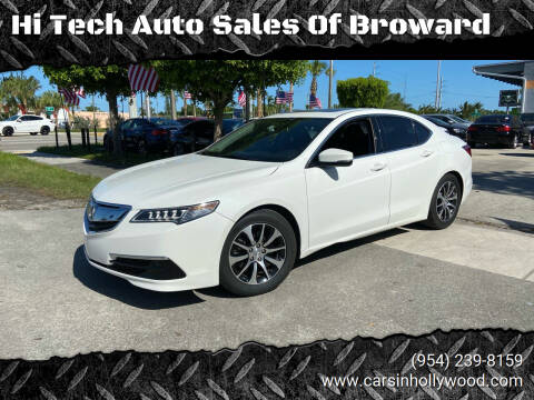 2015 Acura TLX for sale at Hi Tech Auto Sales Of Broward in Hollywood FL