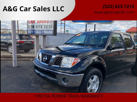 2007 Nissan Frontier for sale at A&G Car Sales  LLC in Tucson AZ