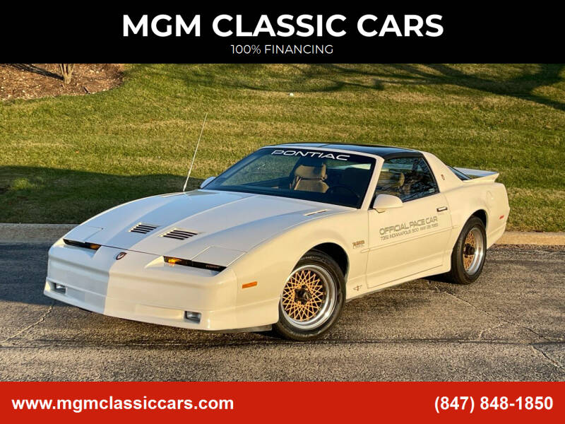 1989 Pontiac Firebird for sale at MGM CLASSIC CARS in Addison IL