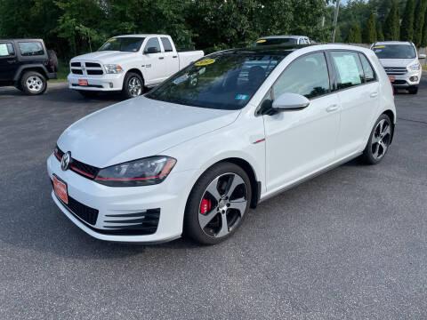 2017 Volkswagen Golf GTI for sale at Glen's Auto Sales in Fremont NH