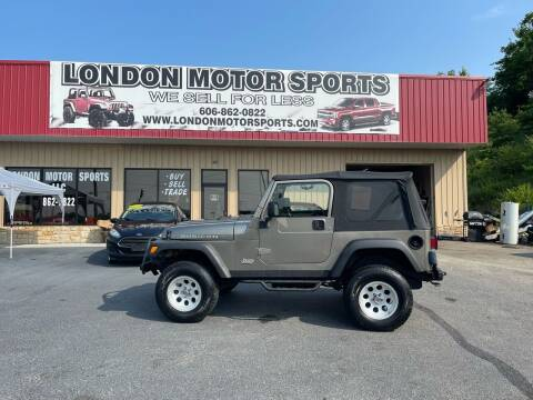 2003 Jeep Wrangler for sale at London Motor Sports, LLC in London KY