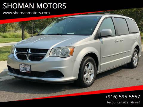2012 Dodge Grand Caravan for sale at SHOMAN MOTORS in Davis CA