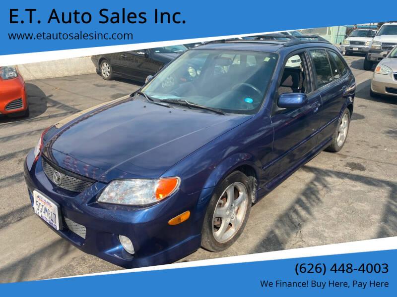 2002 Mazda Protege5 for sale at E.T. Auto Sales Inc. in El Monte CA