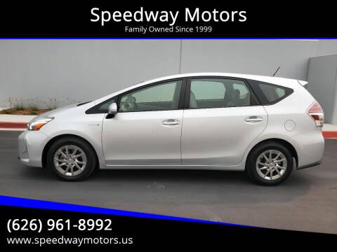 2015 Toyota Prius v for sale at Speedway Motors in Glendora CA