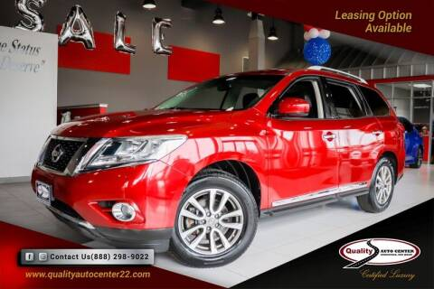 2013 Nissan Pathfinder for sale at Quality Auto Center in Springfield NJ