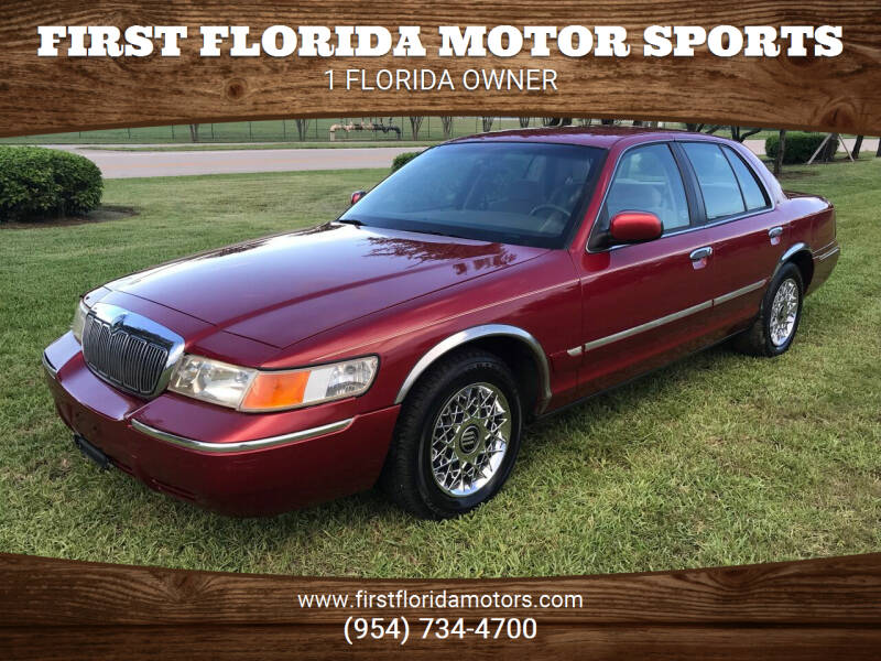 2001 Mercury Grand Marquis for sale at FIRST FLORIDA MOTOR SPORTS in Pompano Beach FL