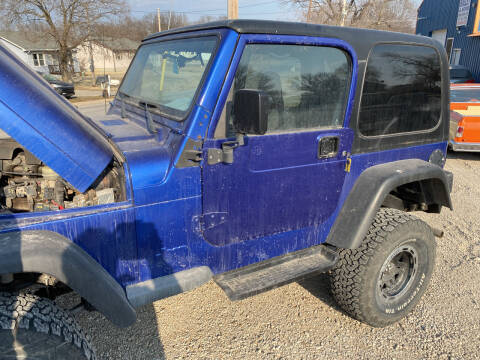 1998 Jeep Wrangler for sale at Bailey & Sons Motor Co in Lyndon KS
