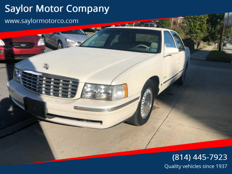 1998 Cadillac DeVille for sale at Saylor Motor Company in Somerset PA