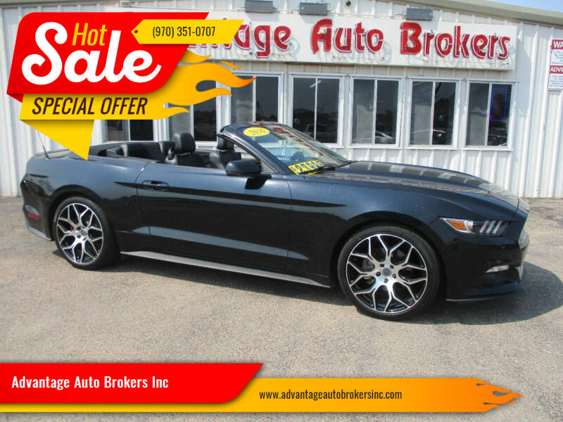2016 Ford Mustang for sale at Advantage Auto Brokers Inc in Greeley CO