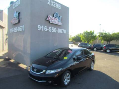 2015 Honda Civic for sale at LIONS AUTO SALES in Sacramento CA