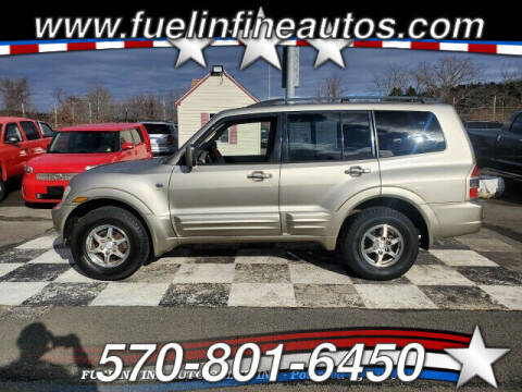 2002 Mitsubishi Montero for sale at FUELIN FINE AUTO SALES INC in Saylorsburg PA