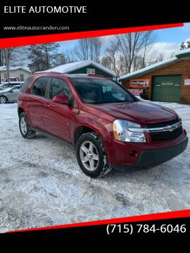 2006 Chevrolet Equinox for sale at ELITE AUTOMOTIVE in Crandon WI