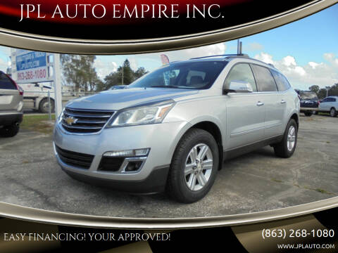2014 Chevrolet Traverse for sale at JPL AUTO EMPIRE INC. in Auburndale FL