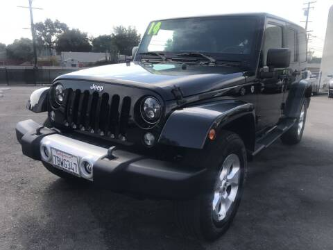 2014 Jeep Wrangler Unlimited for sale at Quality Car Sales in Whittier CA