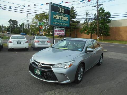 2015 Toyota Camry for sale at Brookside Motors in Union NJ