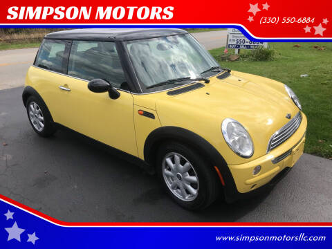 2004 MINI Cooper for sale at SIMPSON MOTORS in Youngstown OH